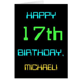 Cartão Divertimento Digital que computa o 17o aniversário