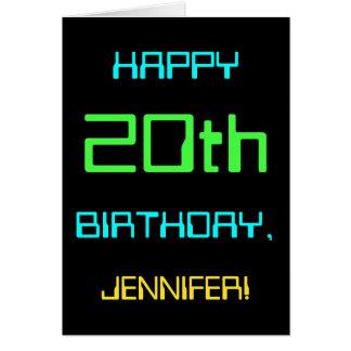 Cartão Divertimento Digital que computa o 20o aniversário