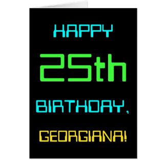 Cartão Divertimento Digital que computa o 25o aniversário