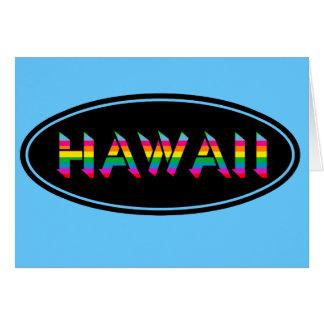 Cartão Divertimento do azul de Havaí