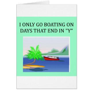 Cartão divertimento do barco e da navigação