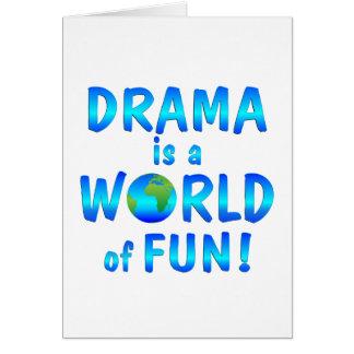 Cartão Divertimento do drama