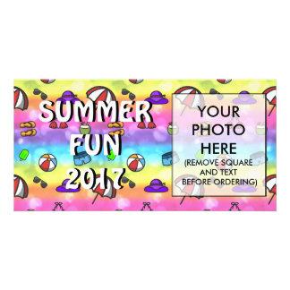 Cartão Divertimento do verão