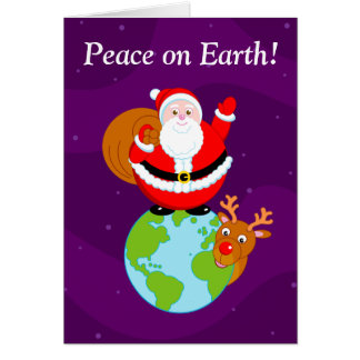 Cartão Divertimento Papai Noel & desenhos animados na
