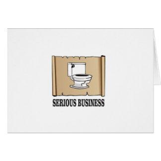 Cartão divertimento sério do negócio