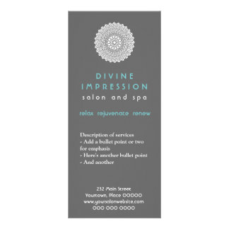 Cartão divino da cremalheira da impressão panfleto informativo