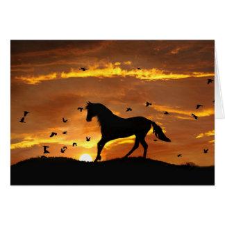 Cartão divórcio Encouargement do cavalo