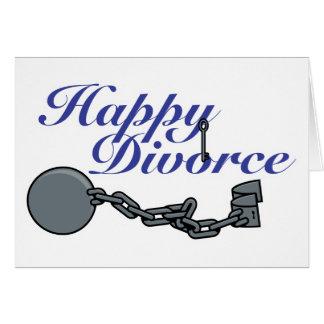 Cartão Divórcio feliz