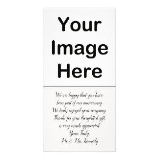 Cartão DIY - Obrigado do aniversário você inserção da
