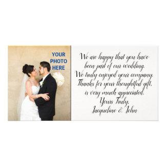 Cartão DIY - Obrigado Wedding você inserção da foto
