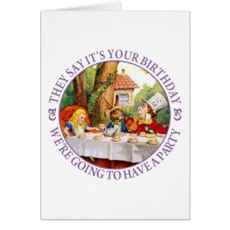 Cartão Dizem que é seu aniversário…