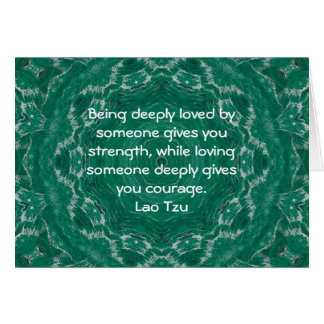 Cartão Dizer da cotação da sabedoria de Tzu do Lao