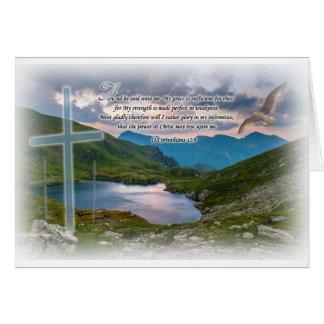 Cartão do 12:9 de 2 Corinthian