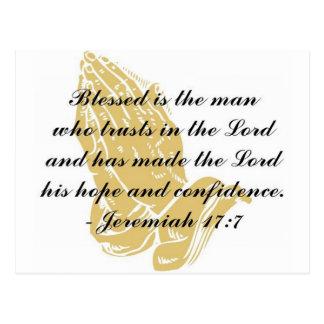 Cartão do 17:7 de Jeremiah