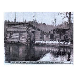 Cartão do 1920 da inundação do primavera da