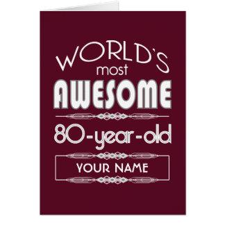 Cartão do 80 do aniversário dos mundos obscuridade