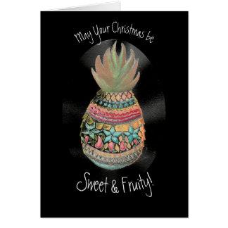 Cartão do abacaxi do Natal