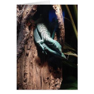 cartão do abraço do lagarto