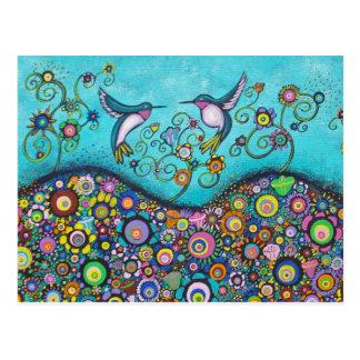 Cartão do abrigo do colibri