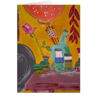 Cartão do açafrão e dos pimentões