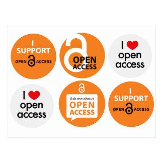 Cartão do acesso aberto