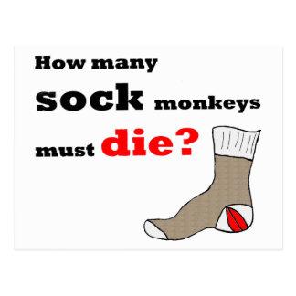 Cartão do activista do macaco da peúga
