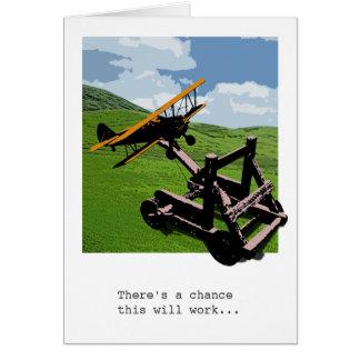 Cartão do adeus/bon voyage da catapulta do avião