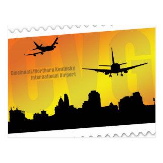 Cartão do aeroporto CVG de Cincinnati
