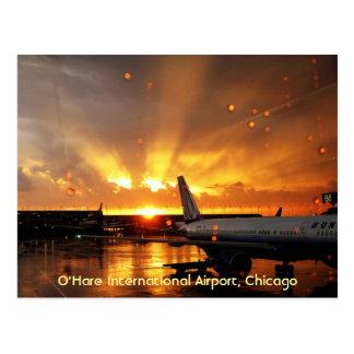 Cartão do aeroporto internacional de O'Hare
