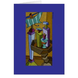 Cartão do ajuste da mesa de Tuscan