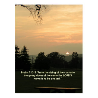 Cartão do ajuste do sol do 113:3 do salmo