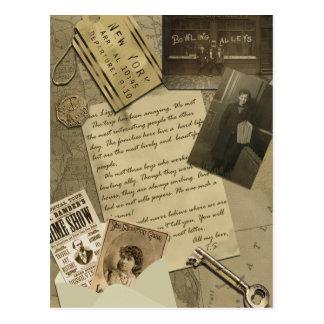 """Cartão do álbum de recortes de """"New York"""" do Cartão Postal"""