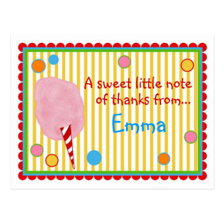 Cartão do algodão doce cartão postal