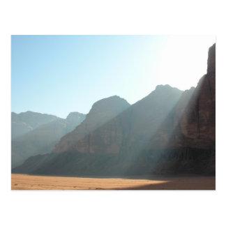Cartão do alvorecer do deserto