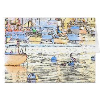 Cartão do alvorecer do porto