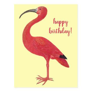 Cartão do amarelo das belas artes do flamingo | do