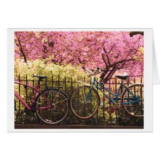 Cartão do amor da bicicleta