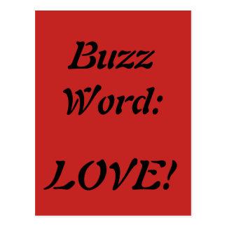Cartão do amor da buzzword