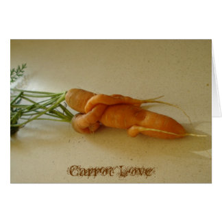 Cartão do amor da cenoura