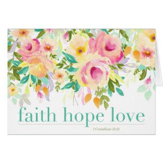 Cartão do amor | da esperança da fé