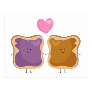Cartão do amor da manteiga e da geléia de amendoim