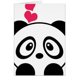 Cartão do amor da panda