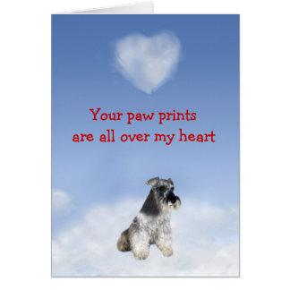 Cartão do amor de filhote de cachorro do Schnauzer