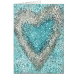 Cartão do amor de turquesa
