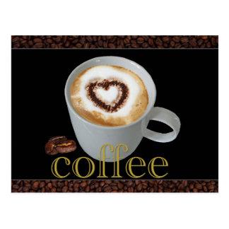 Cartão do amor do café