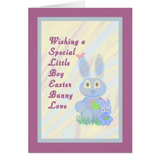 Cartão do amor do coelhinho da Páscoa para Little