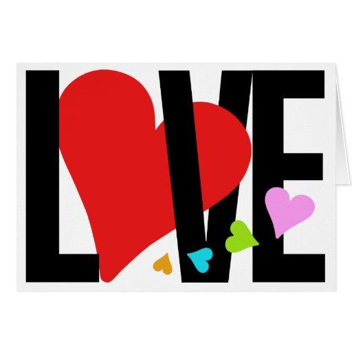 Cartão do amor & do coração (multicolorido)