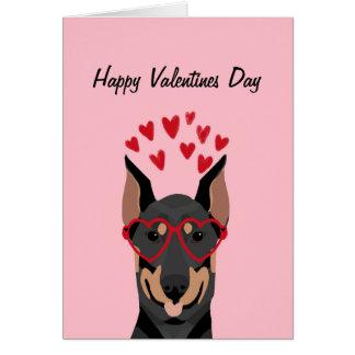 Cartão do amor do dia dos namorados do Doberman