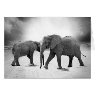 Cartão do amor do elefante - cartão com fotos