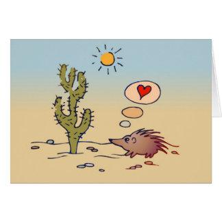 Cartão do amor do porco-